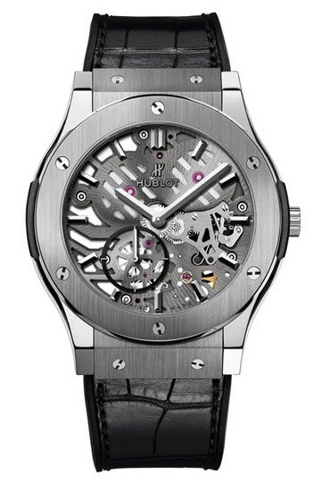 Hublot Classic Fusion 42mm Ultra Thin Mens Automatic Titanium