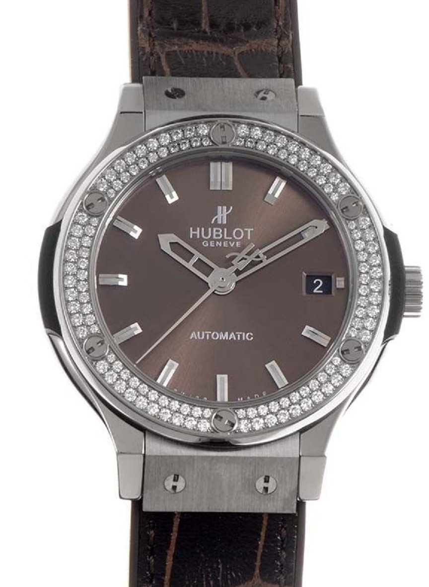 Hublot Classic Fusion 38mm Automatic in Titanium with Dimaond Bezel