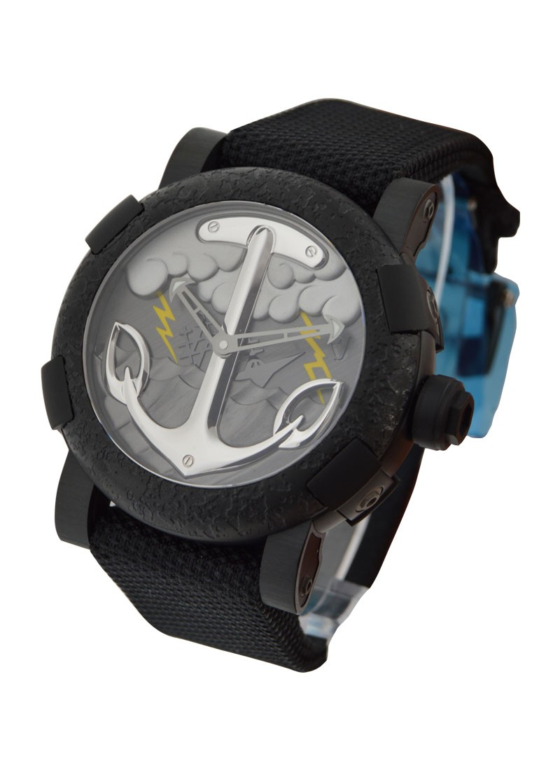 Romain Jerome Capsules Tattoo 50mm in Black PVD-coated Stainless Steel