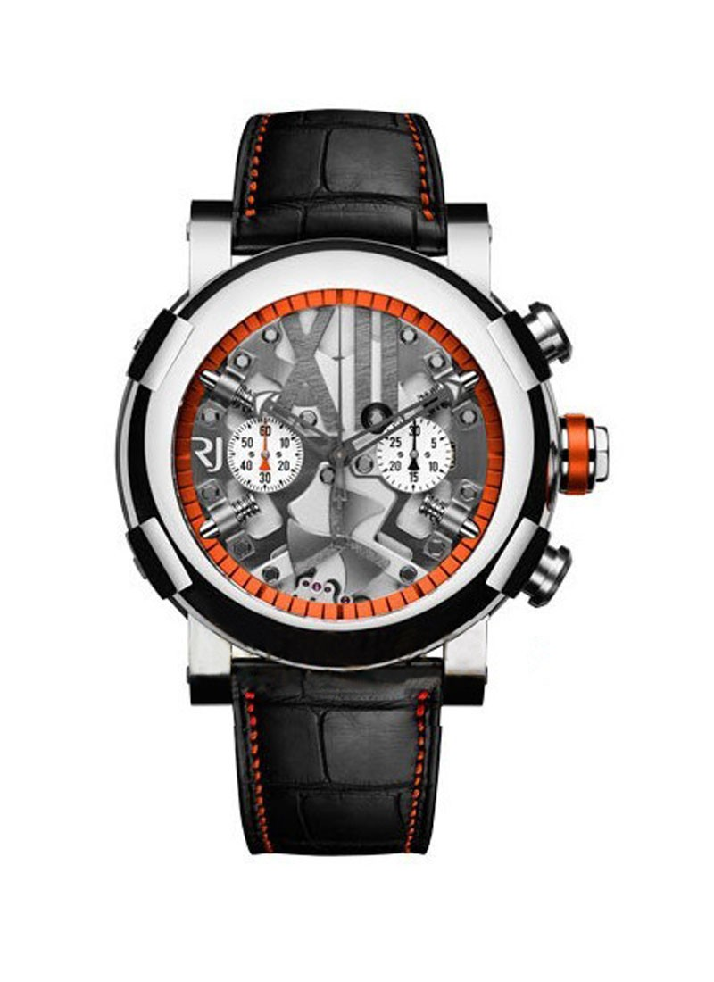 Romain Jerome Titanic DNA Steampunk Chrono Orange in Polished Steel