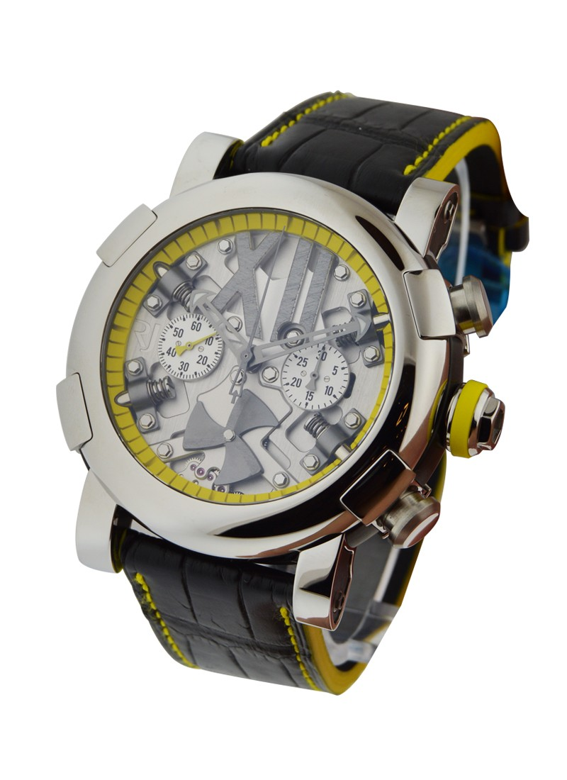 Romain Jerome Titanic DNA Steampunk Chrono Yellow in Polished Steel