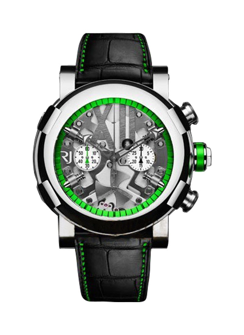 Romain Jerome Titanic DNA Steampunk Chrono Green in Polished Steel
