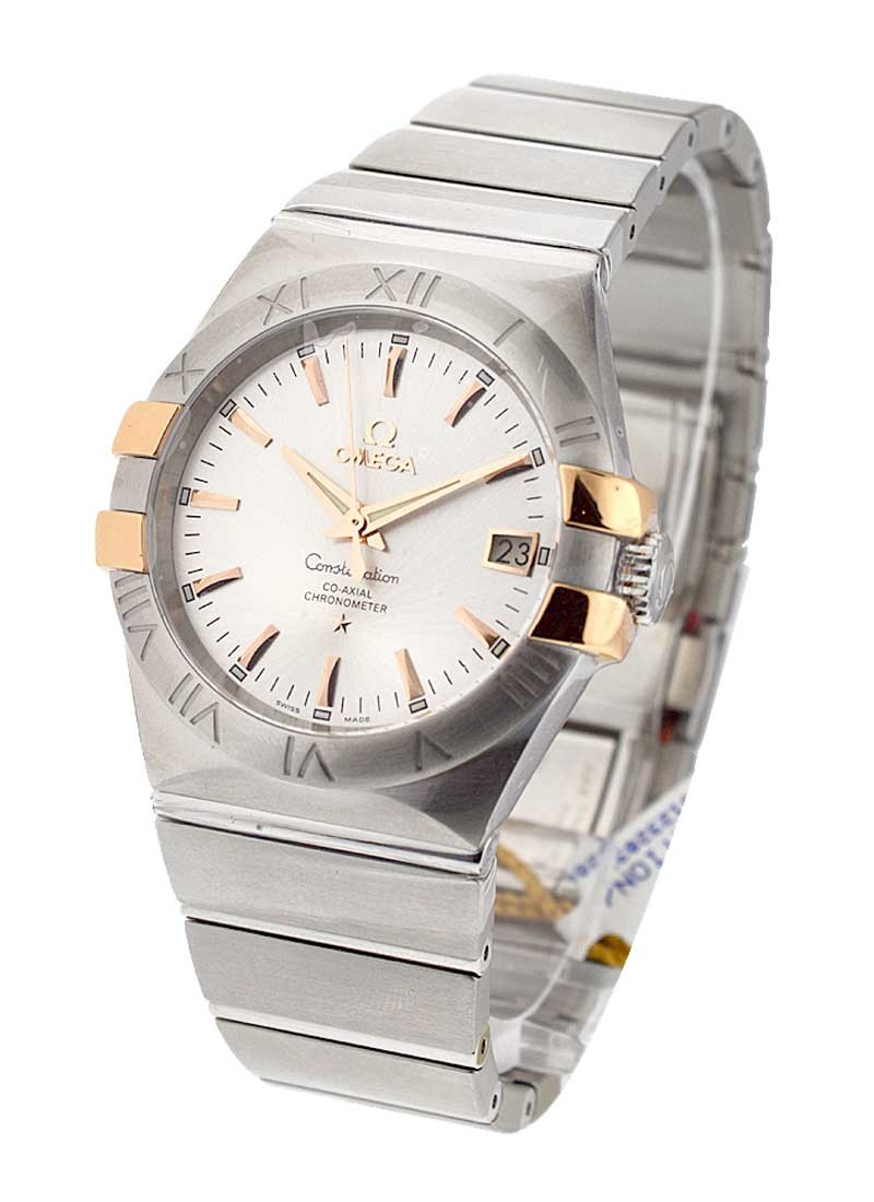Omega Constellation Men's in 2 Tone with Rose Gold Accent Bezel