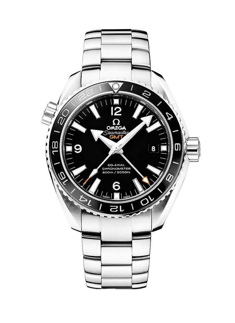 Omega Seamaster Planet Ocean GMT in Steel with Black Bezel