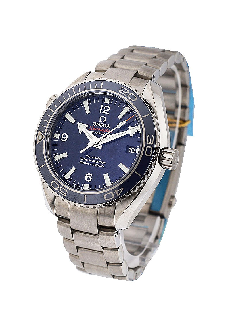 Omega Seamaster Planet Ocean 42mm in Steel with Blue Bezel