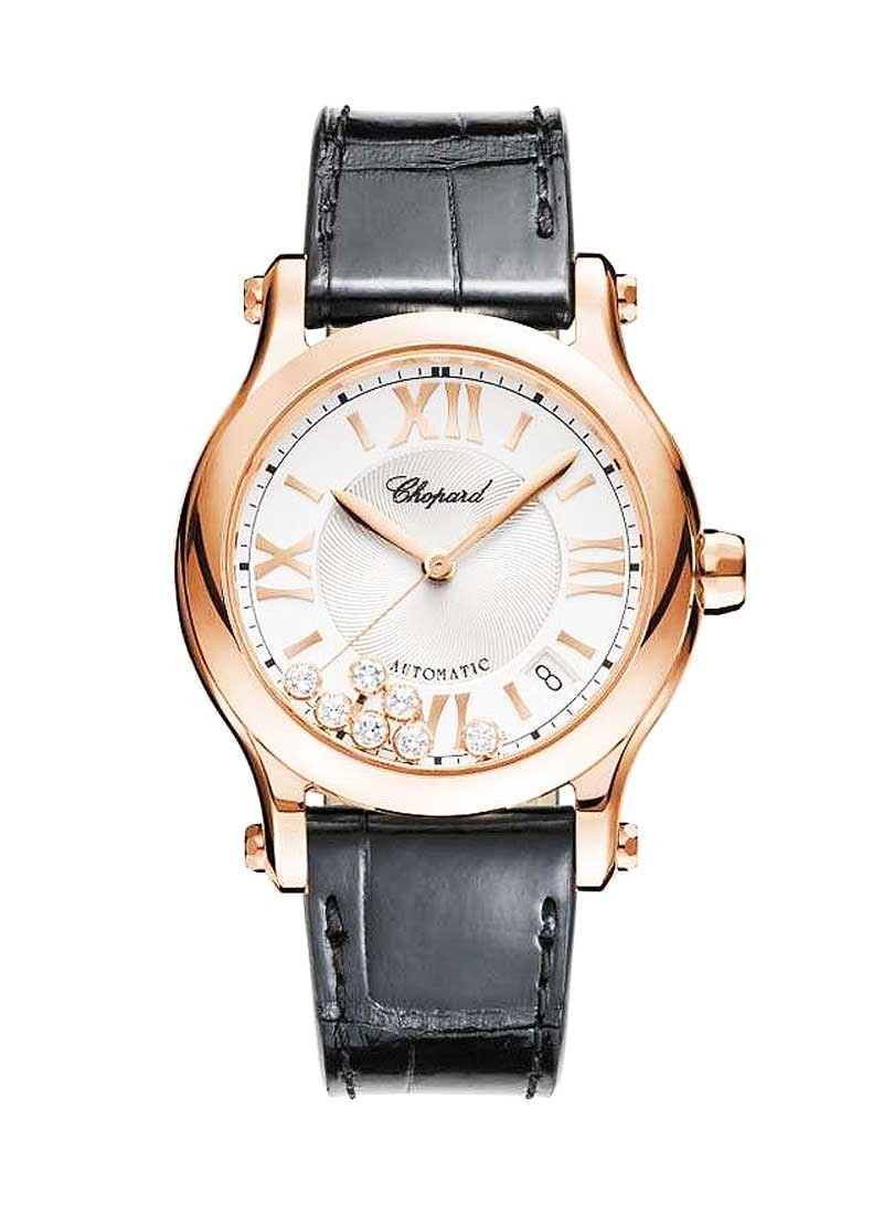 Chopard Happy Sport Medium Automatic in Rose Gold