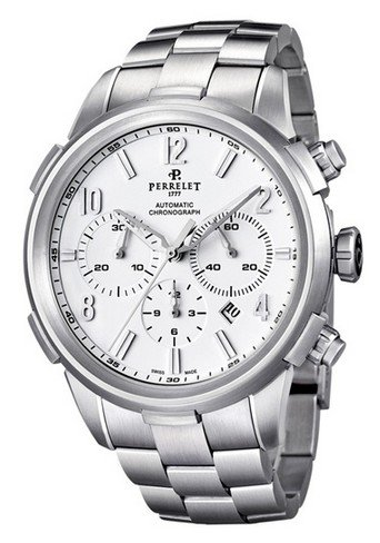 Perrelet Class T Chronograph Mens Automatic in Steel