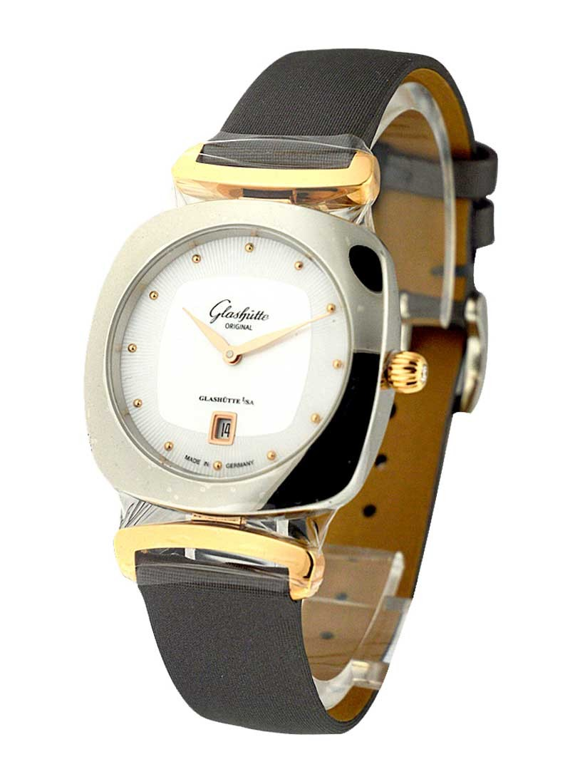Glashutte Pavonina Ladies 31mm Quartz in 2-Tone