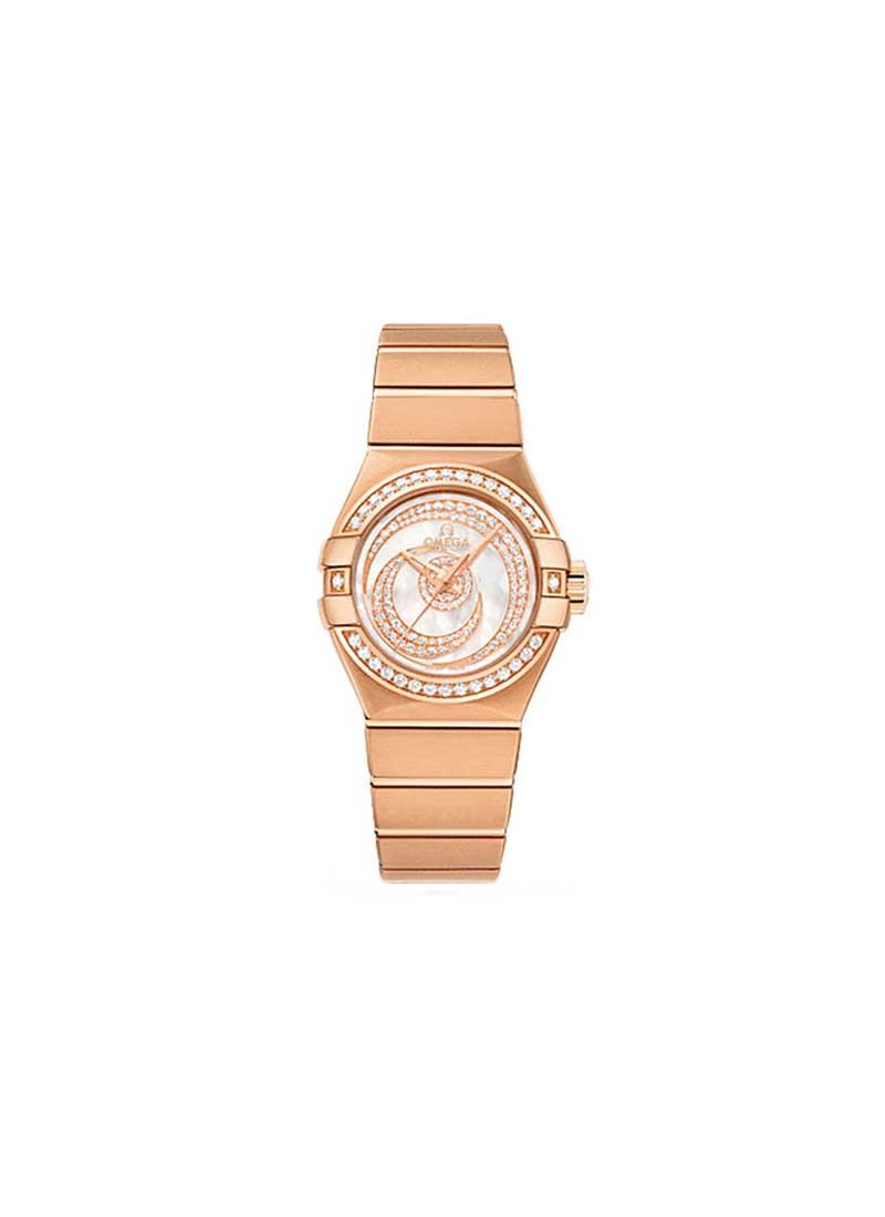 Omega Constellation Co-Axial in Rose Gold with Diamond Bezel