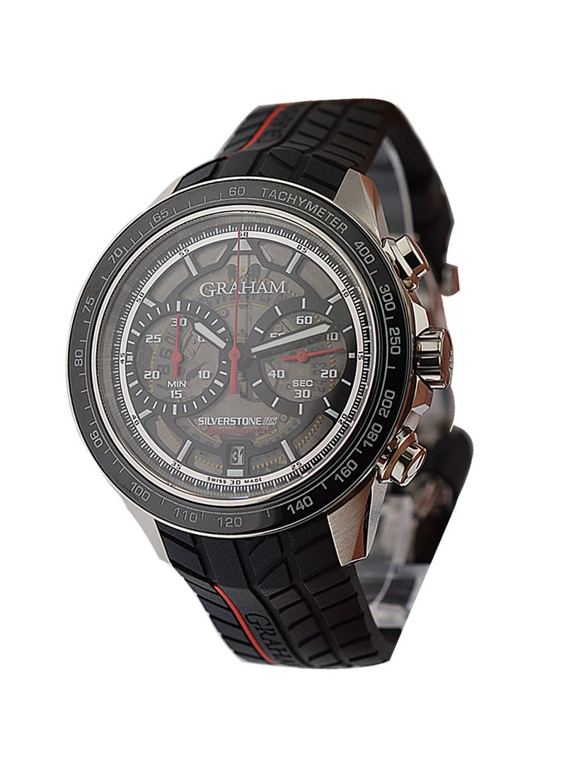 Graham Silverstone RS Skeleton Chronograph 46mm in Steel