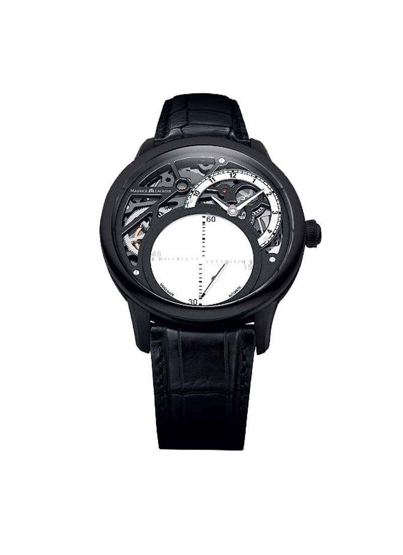 Maurice Lacroix Masterpiece Seconde Mysterieuse in Black PVD Steel