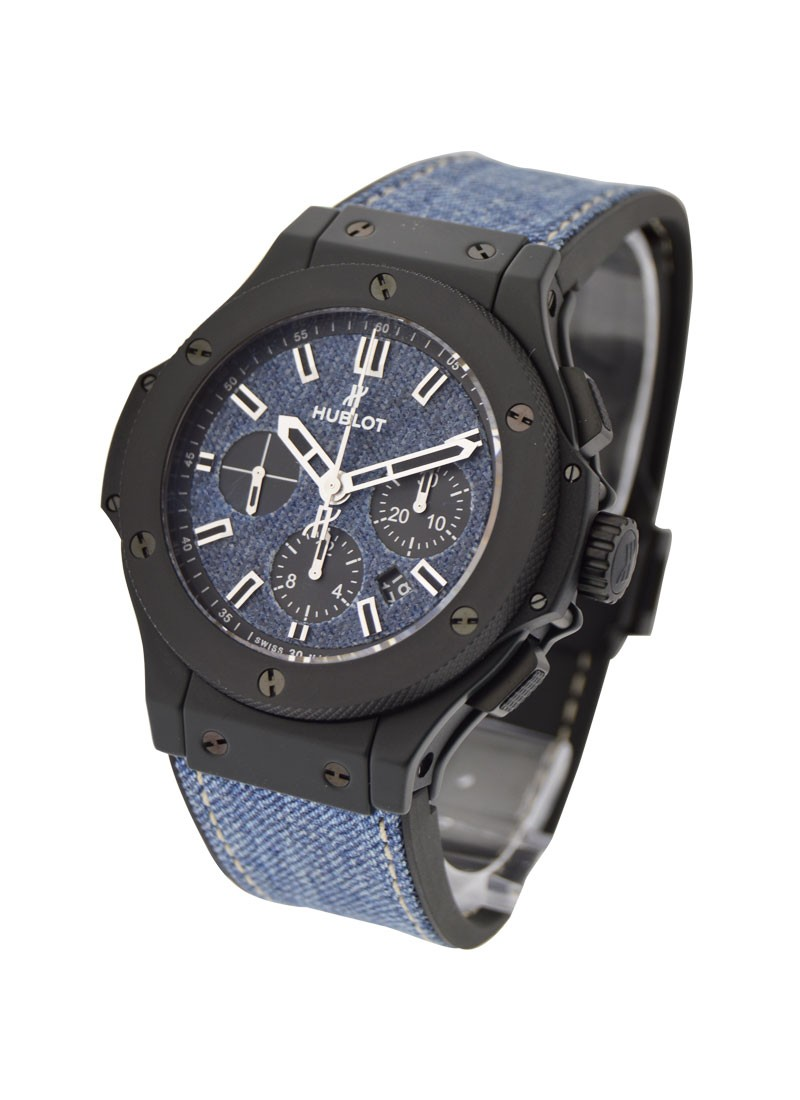 Hublot Big Bang Jeans Chronograph 44mm Automatic in Black Ceramic