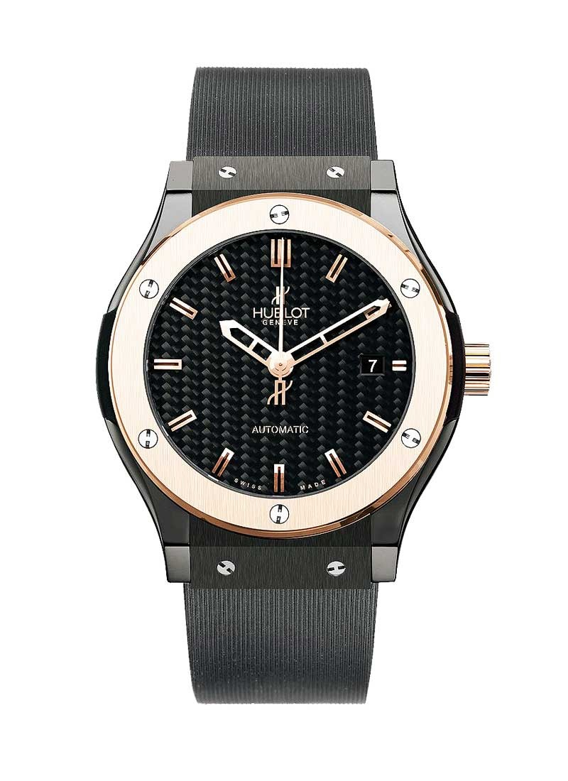 Hublot Classic Fusion King Automatic in Ceramic with Rose Gold Bezel