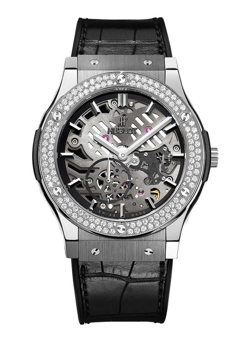 Hublot Classic Fusion Ultra Thin 45mm in Titanium with Diamond Bezel