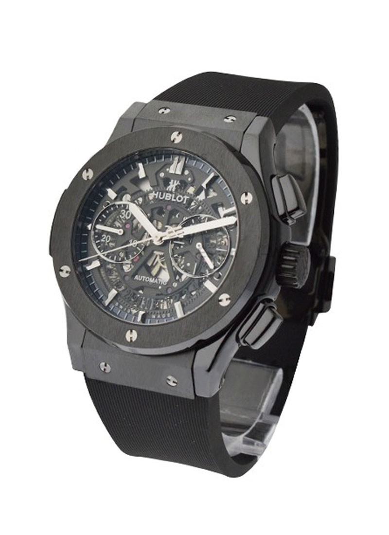 Hublot Classic Fusion 45mm Aero Chronograph in Black Ceramic