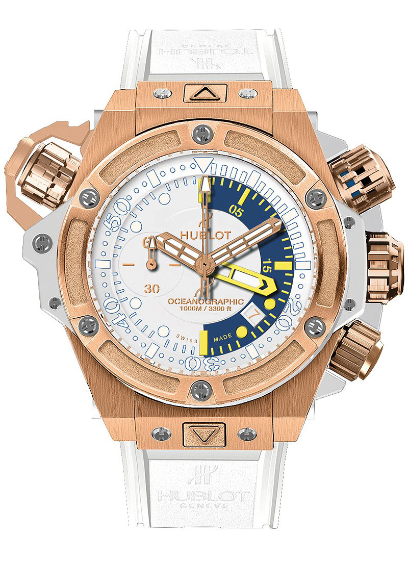 Hublot King Power Oceanographic Monaco 1000 in Rose Gold   Limited Edition