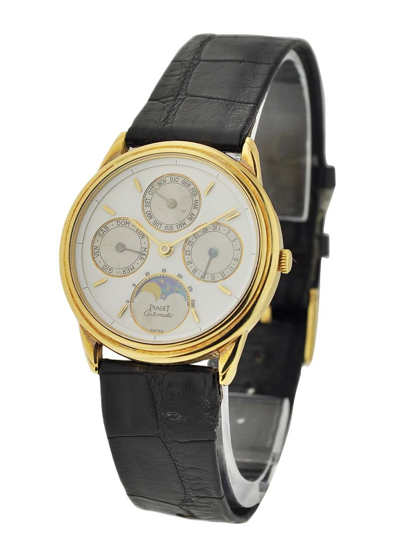 Piaget Moonphase Triple Date 33mm in  Yellow Gold