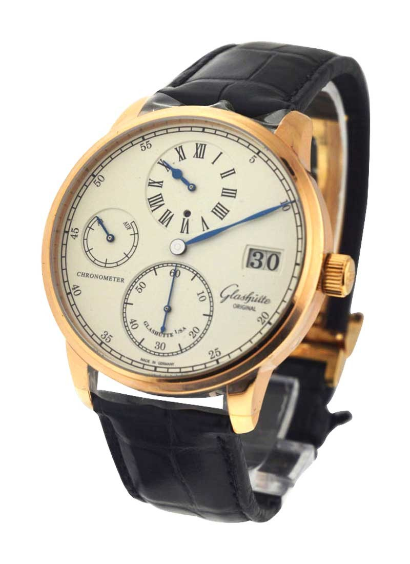 Glashutte Senator Chronometer Regulator in Rose Gold