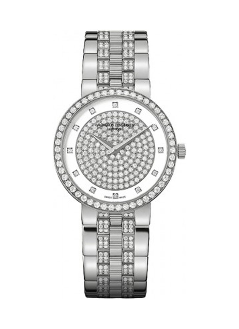 Vacheron Constantin Patrimony Traditionnelle Quartz in White Gold with Diamonds