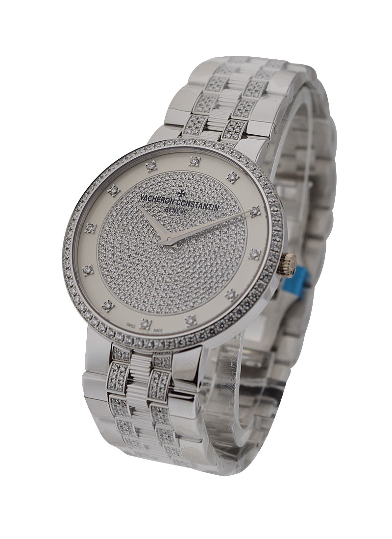 Vacheron Constantin Patrimony Traditionelle Manual - White Gold - Diamonds
