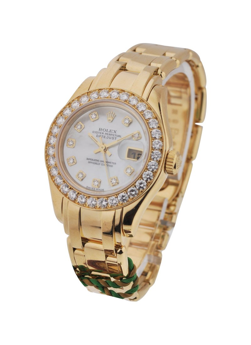 Rolex Used Masterpiece Yellow Gold Ladies Size