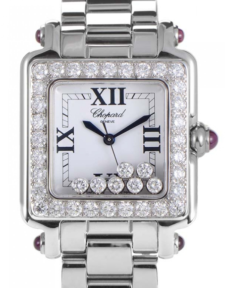Chopard Happy Sport II Ladies Quartz in White Gold with Diamond Bezel