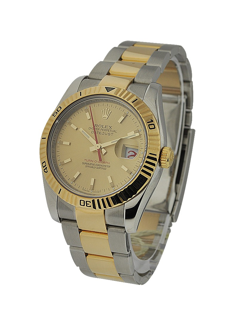 Rolex Used Turn O Graph 2 Tone   Steel and Yellow Gold