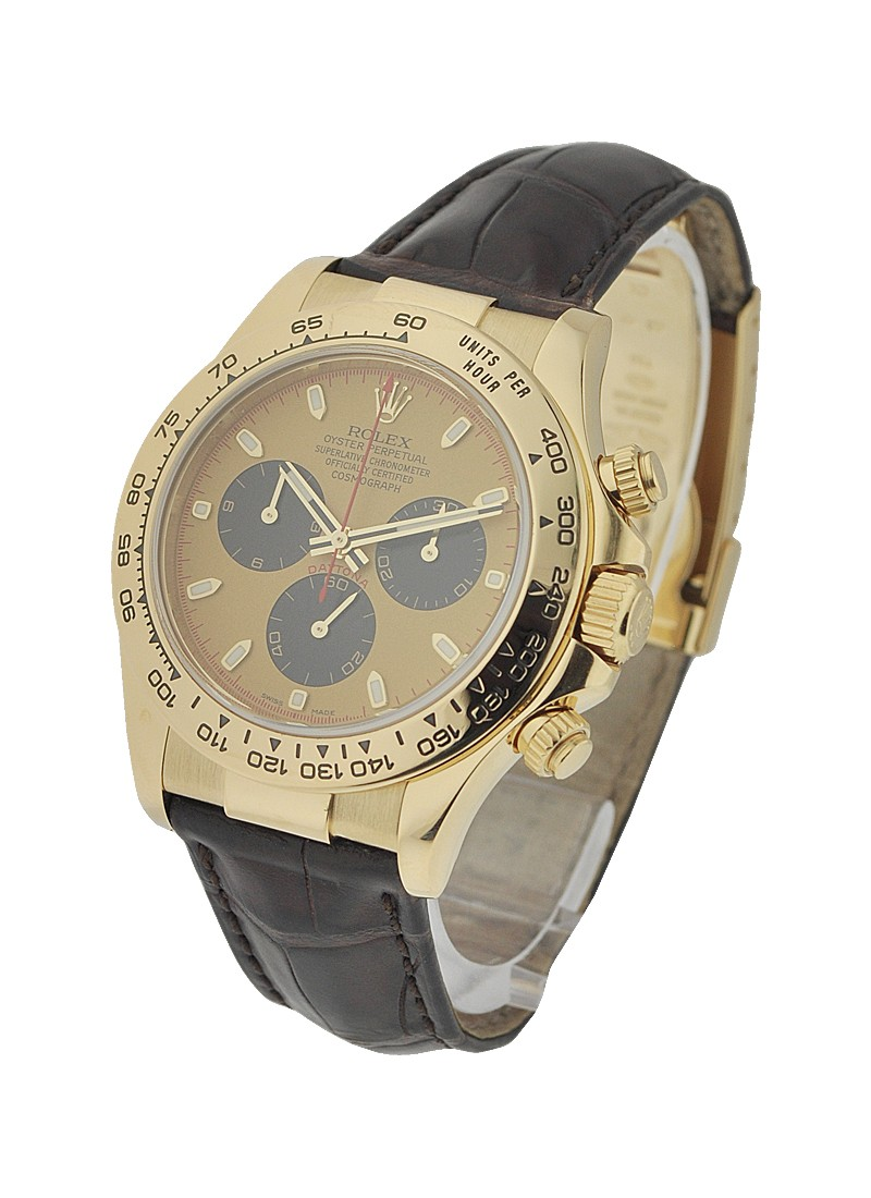 Rolex Used Daytona on Strap in Yellow Gold