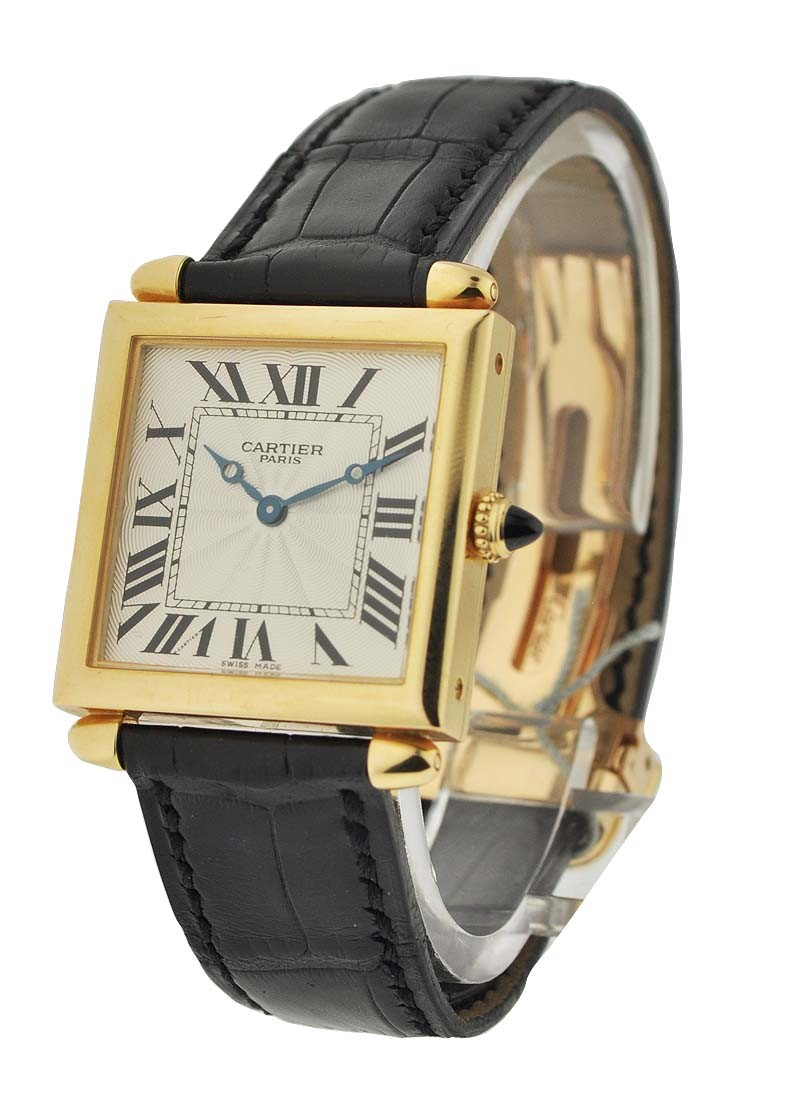 Cartier Obus Tank Mechanical Privee collection in Yellow Gold
