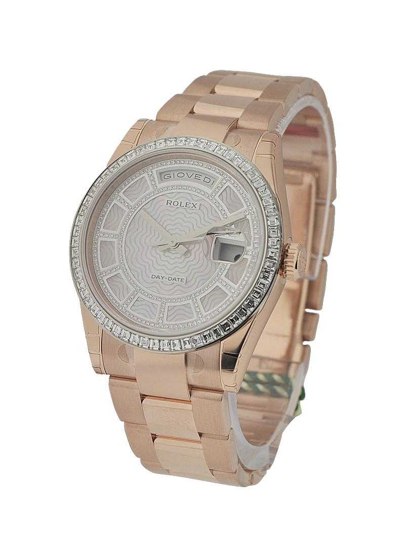 Rolex Unworn Day   Date Carousel in Rose Gold   Special Edition    Ref 118395