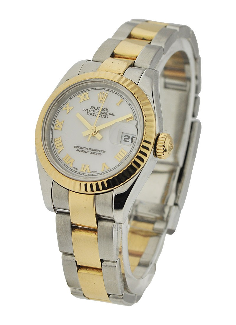 Rolex Used Datejust 2 Tone in Steel and Yellow Gold Fluted Bezel