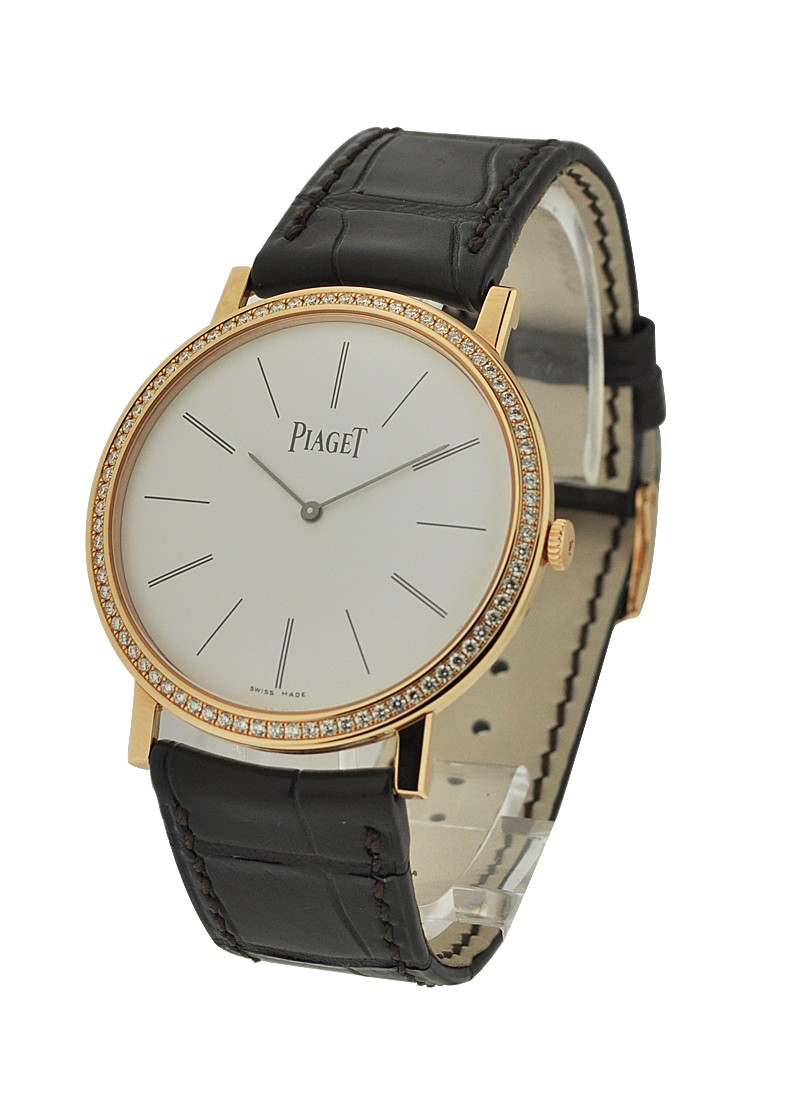Piaget Altiplano Round in Rose Gold with Diamond Bezel