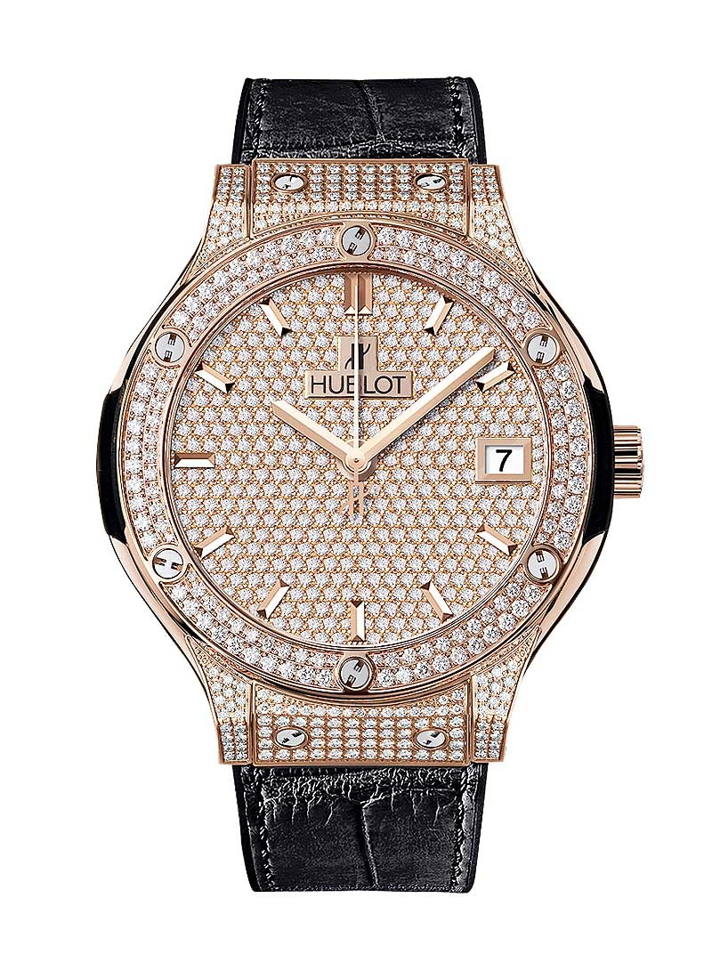 Hublot Classic Fusion  Automatic in Rose Gold  with Diamond Bezel