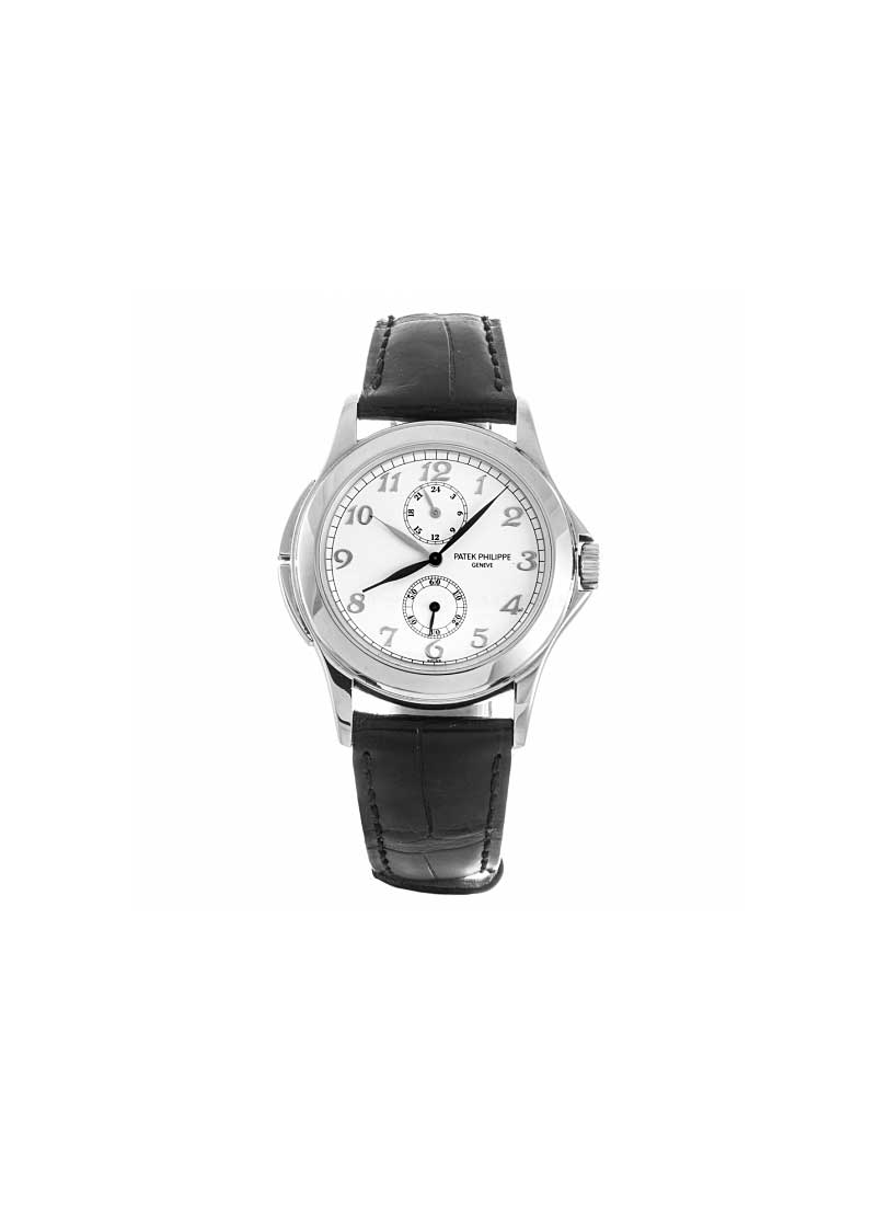 Patek Philippe Travel Time 5134 Mens manual in White Gold