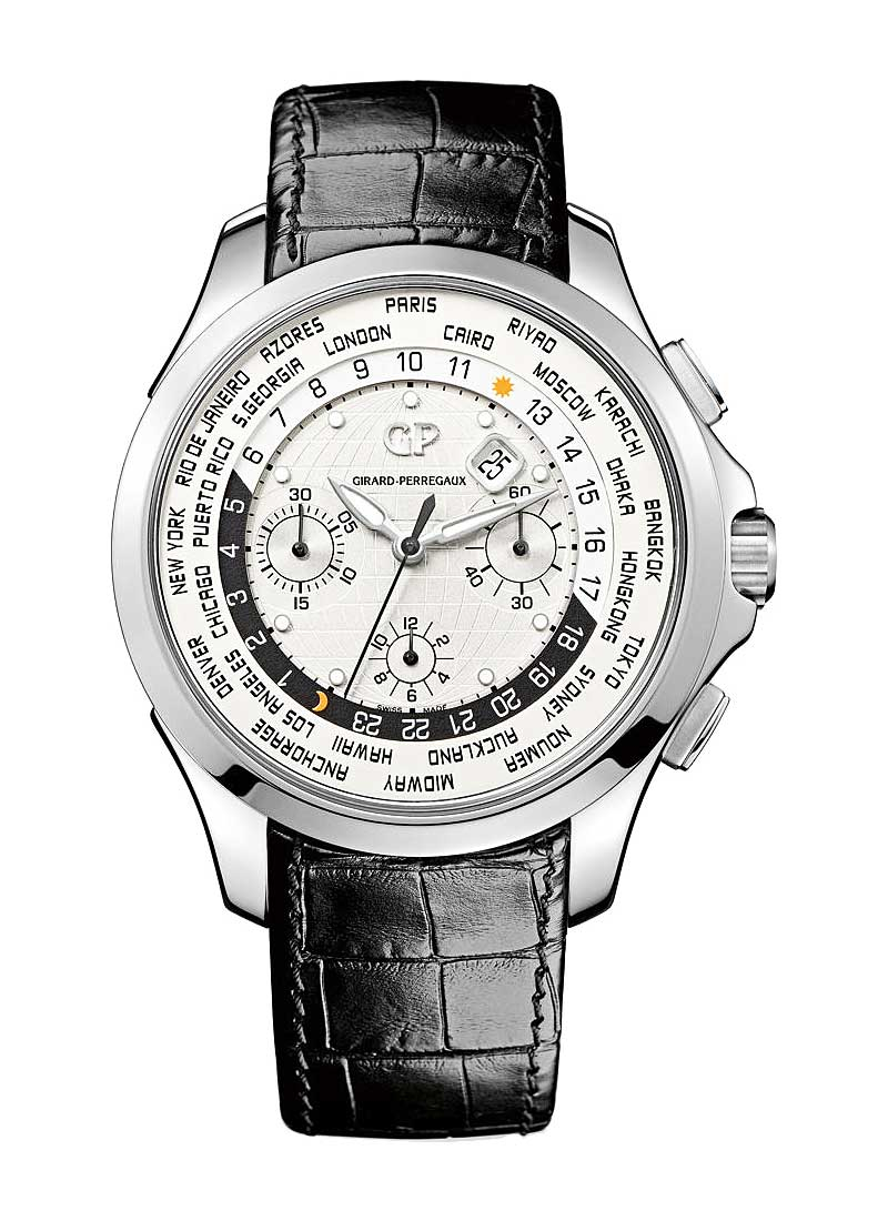 Girard Perregaux World Time Chronograph Traveller in Steel