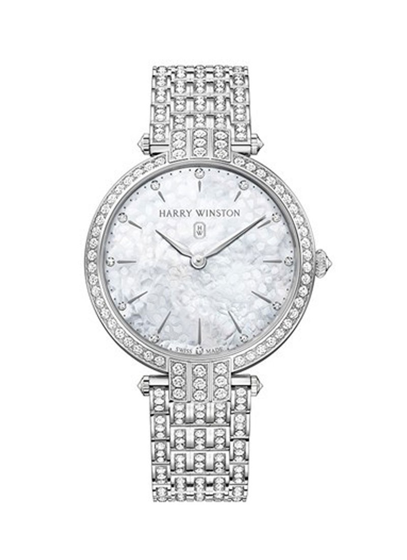 Harry Winston Premier Ladies 39mm Quartz - White Gold - Diamonds