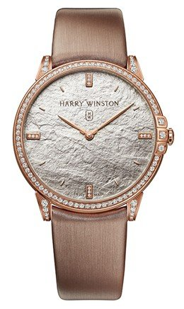 Harry Winston Midnight Monochrome 39mm Quartz in Rose Gold with Diamond Bezel