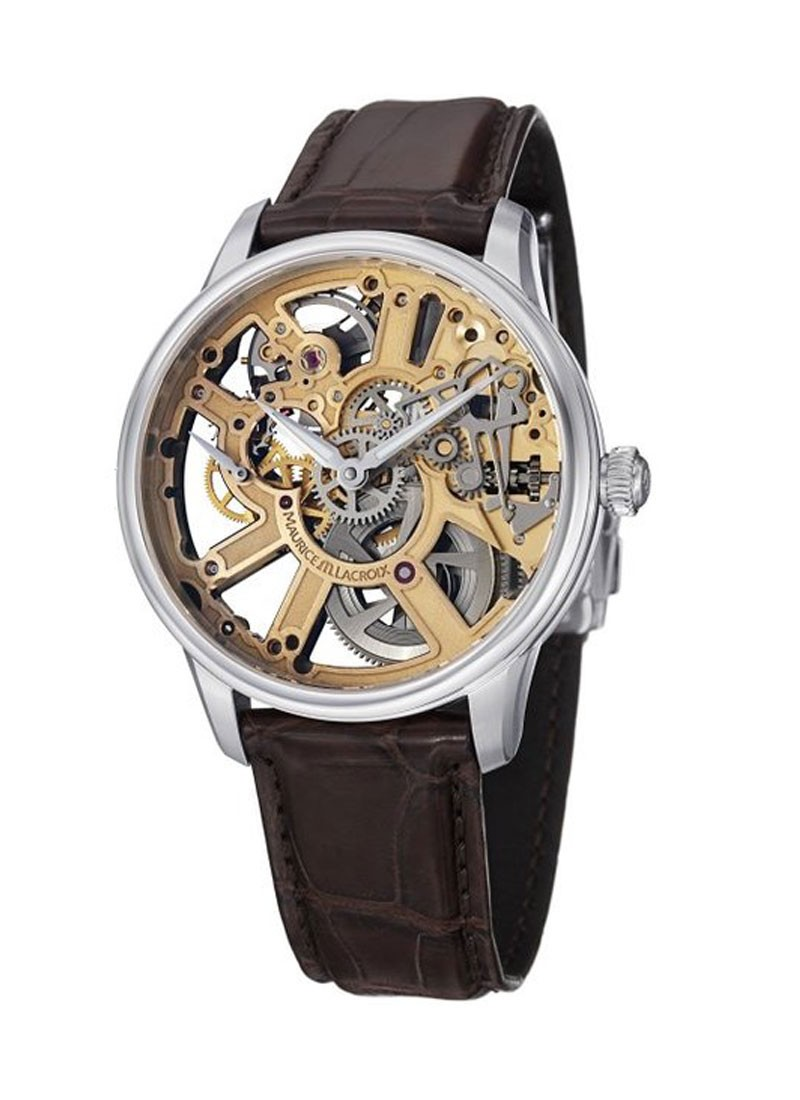 Maurice Lacroix Masterpiece Squellete Mens Manual in Steel