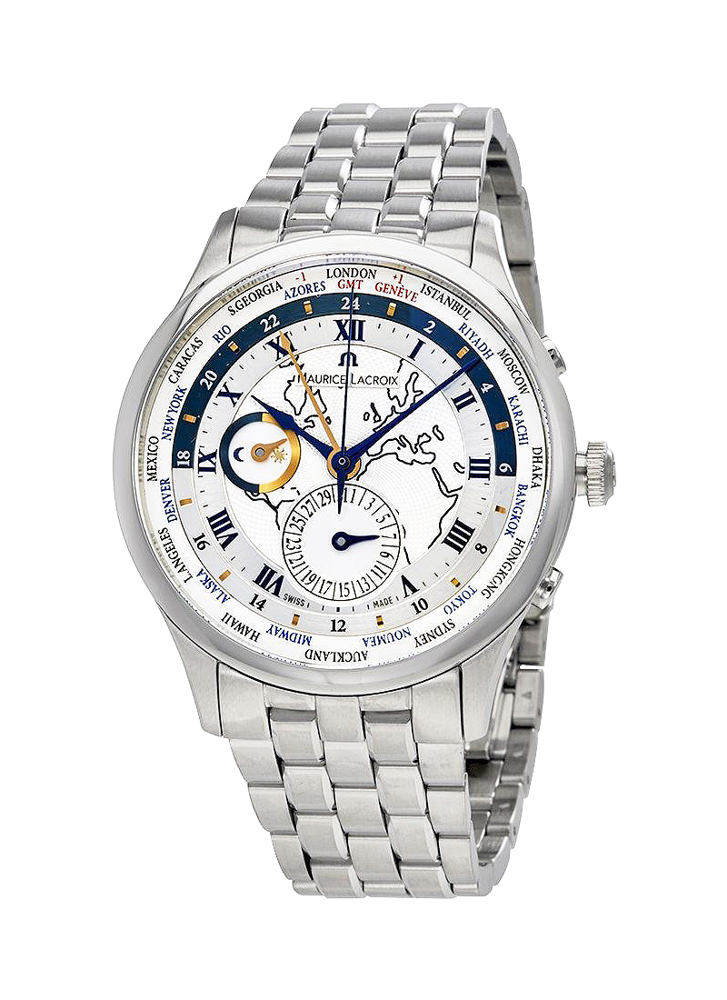 Maurice Lacroix Materpiece Worldtimer Mens Automatic in Steel