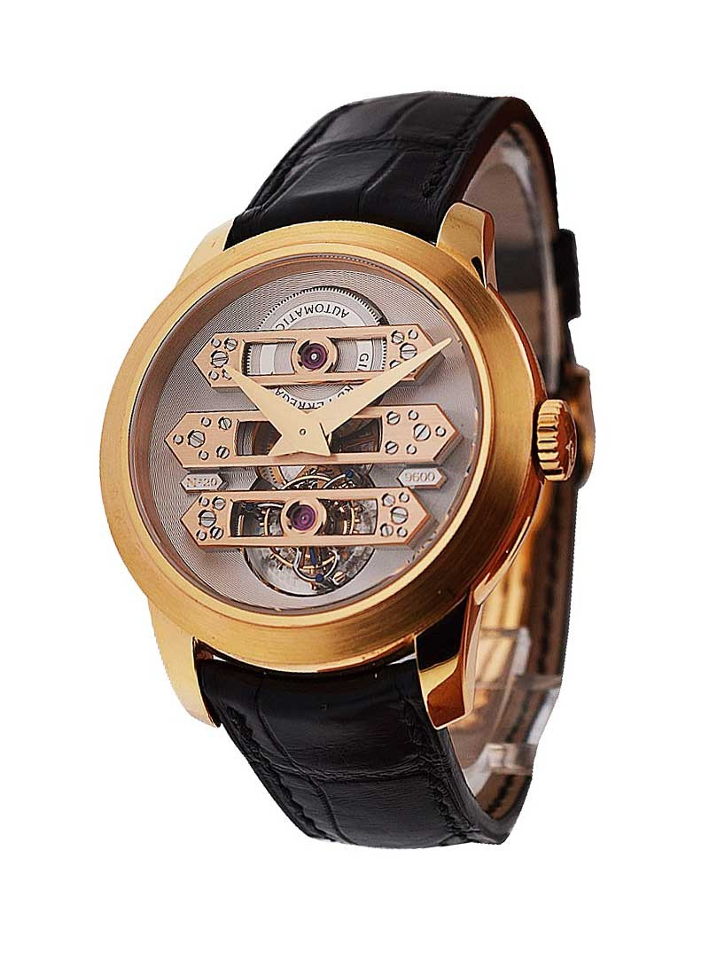 Girard Perregaux Tourbillon with Three Bridges Mens Automatic  Rose Gold