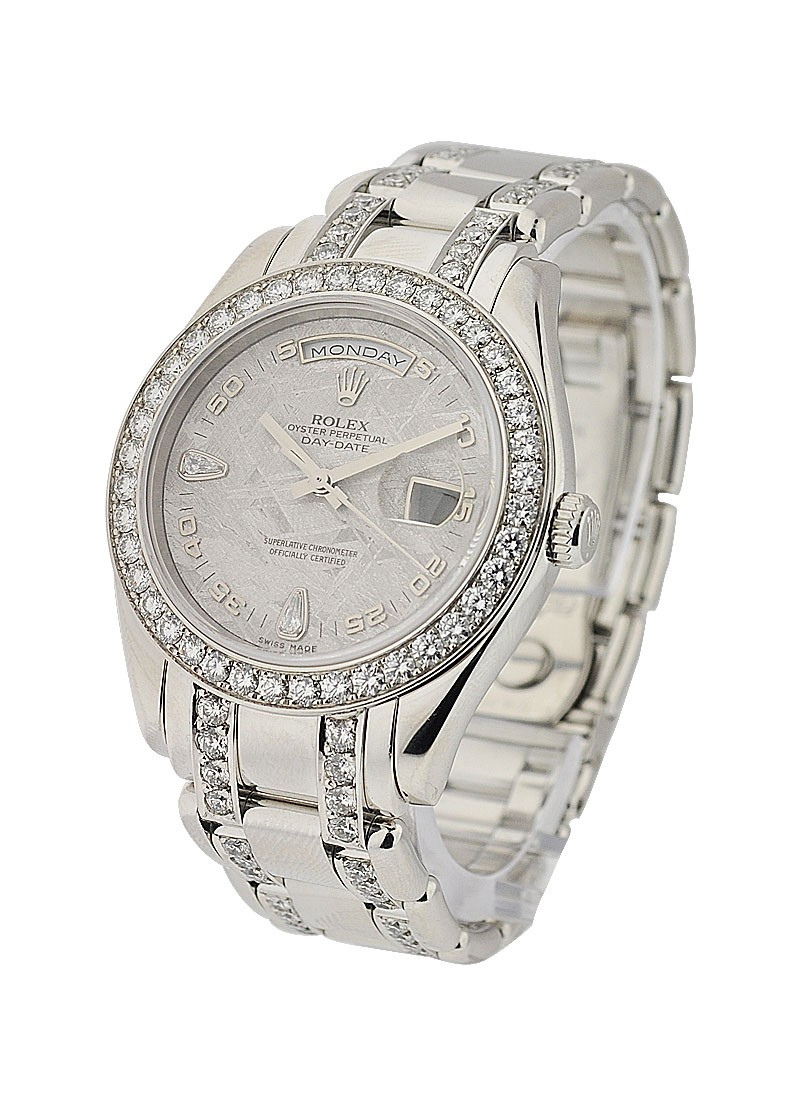 Rolex Used Platinum Masterpiece with After Market Diamond Bracelet