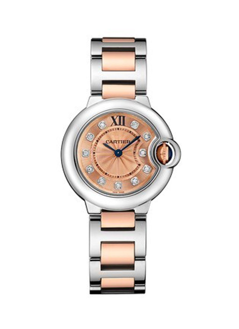 Cartier Ballon Bleu 28mm  in Steel and Rose Gold