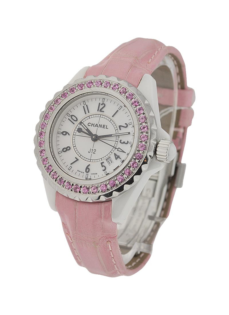 Chanel J12 White with Pink Ceramic Bezel