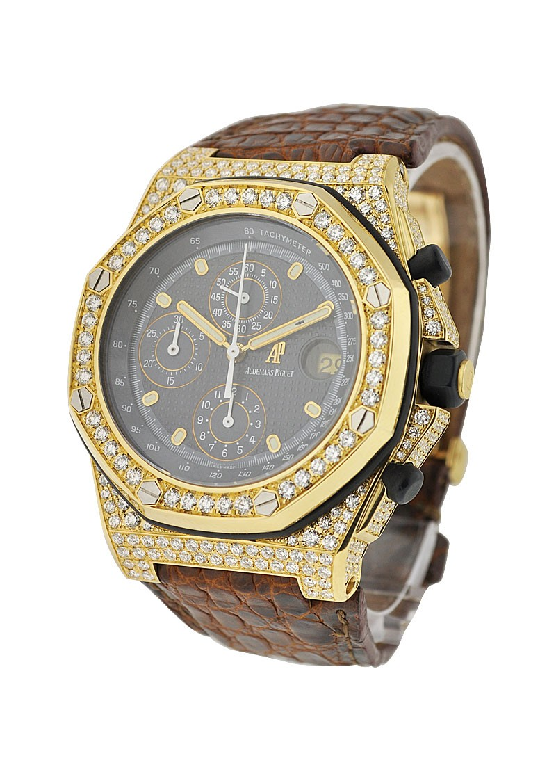Audemars Piguet Yellow Gold Offshore with Aftermarket Diamond Case
