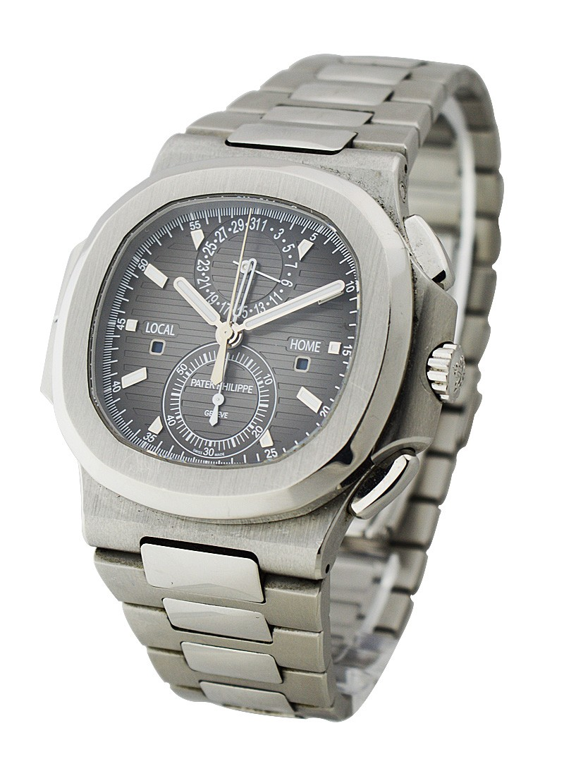 Patek Philippe Nautilus Travel Time Chronograph 5990 in Steel
