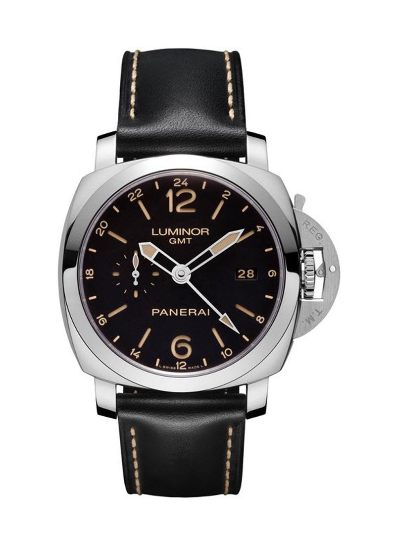 Panerai PAM 531 - Luminor 1950 GMT - 3 Days Power Reserve in Steel