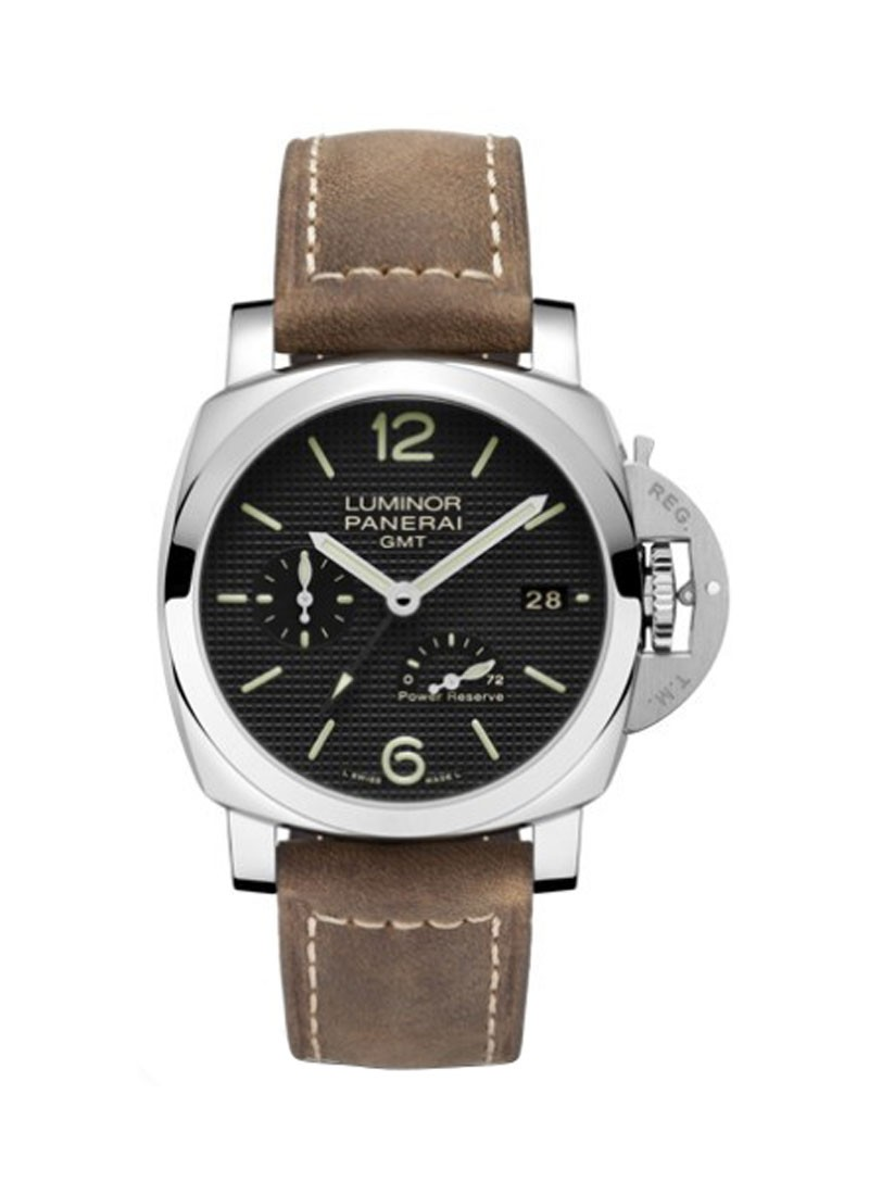 Panerai PAM 537 - Luminor 1950 GMT - 3 Days Power Reserve in Steel