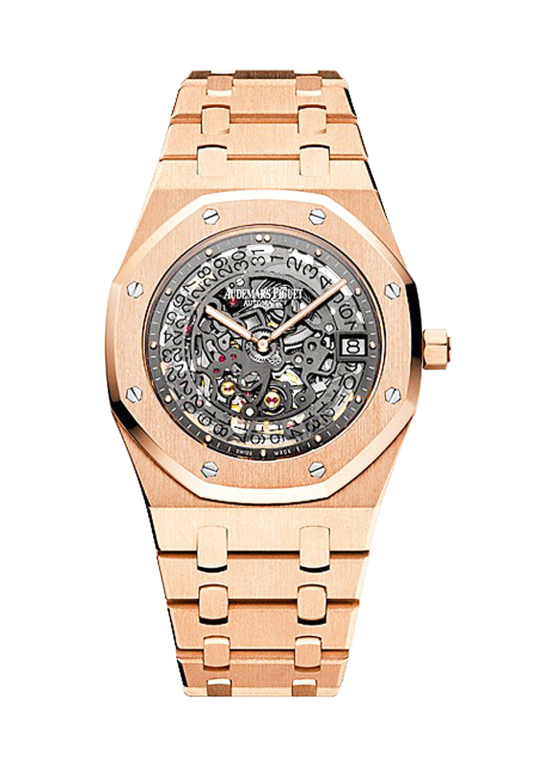 Audemars Piguet Royal Oak Open Worked Extra Thin in Rose Gold
