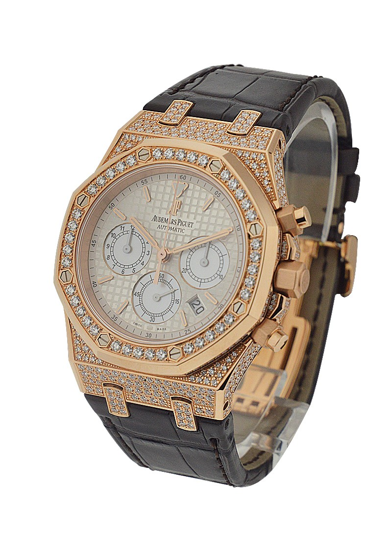 Audemars Piguet Royal Oak Chronograph with Diamond Case and Bezel