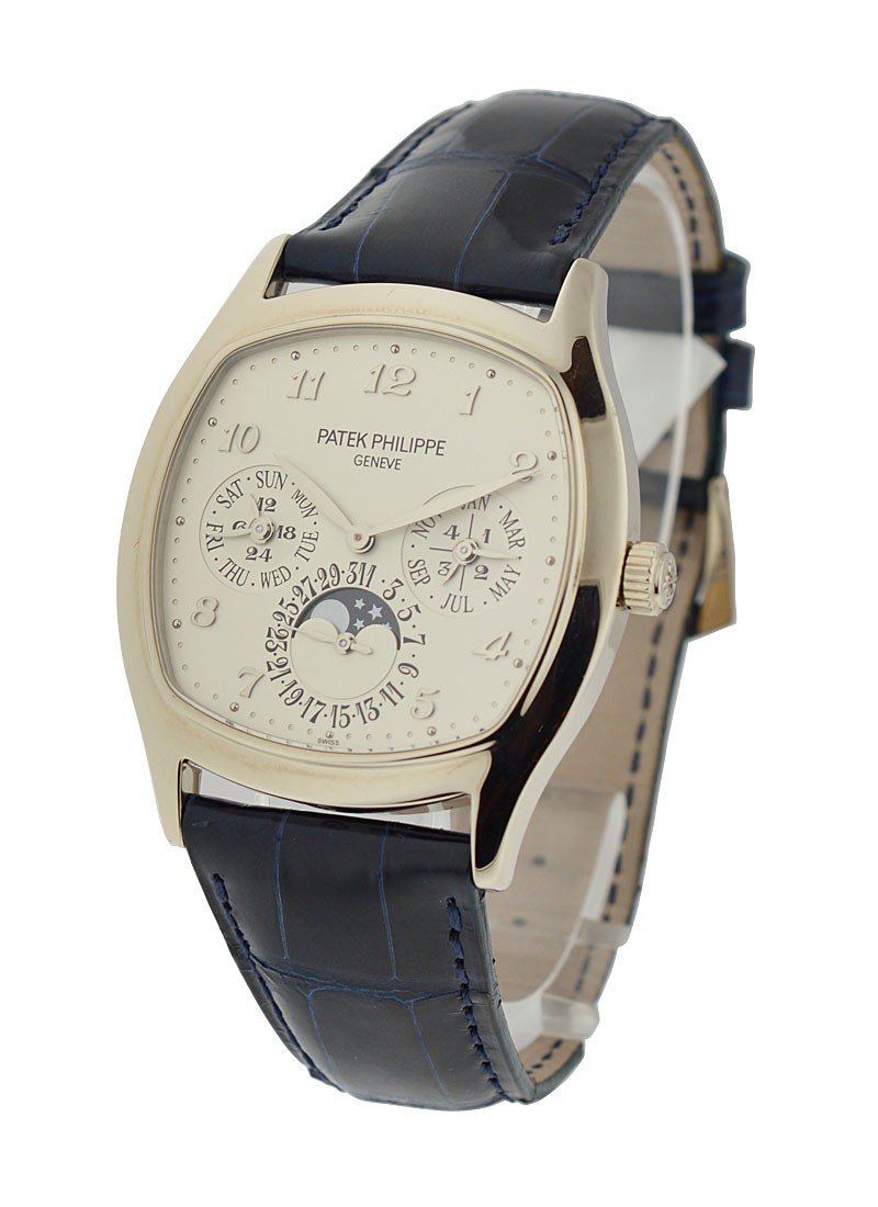 Patek Philippe Grand Complication Ref 5940G 001 Perpetual Calendar in White Gold